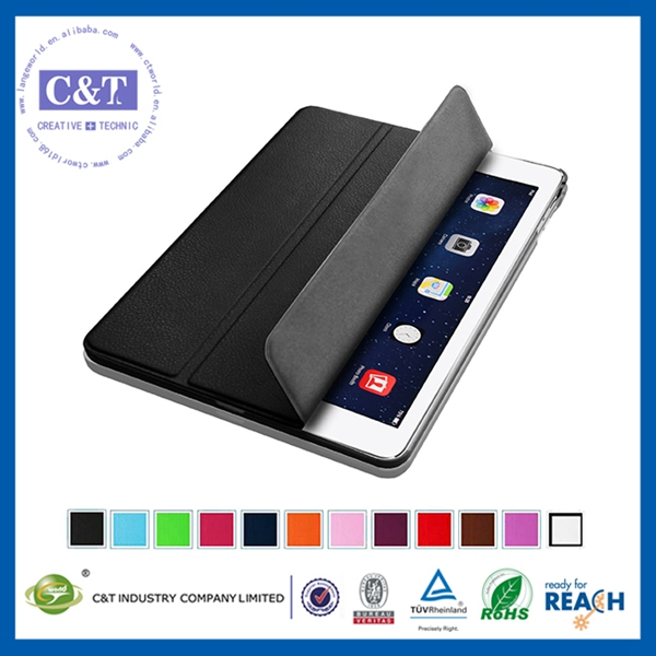 hot selling ultra thin luxury case for ipad air 5 flip leather case new