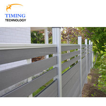 Used pool wood plastic composite low garden fencing panels