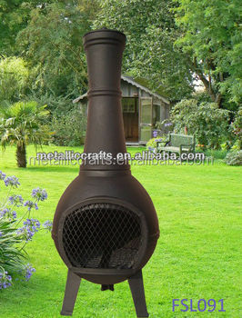 Cast Iron Outdoor Chiminea with bbq Grill