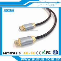 Full stocked 1.5M/5FT high end zinc shell HDMI cable 2.0 1.4 support 3D 4k*2k for ps4 with ethernet