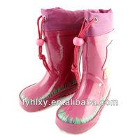 young girl cute cheap pink fashion kids rain boots