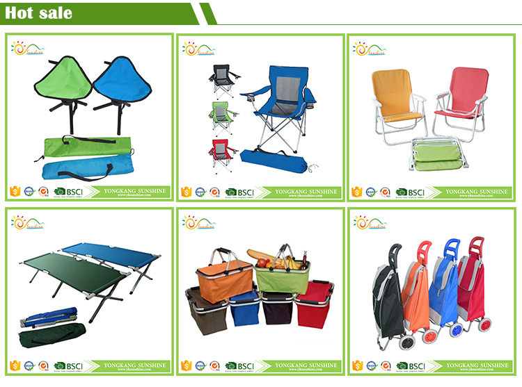 Outdoor furniture Canvas Armrest Camping Folding Chair