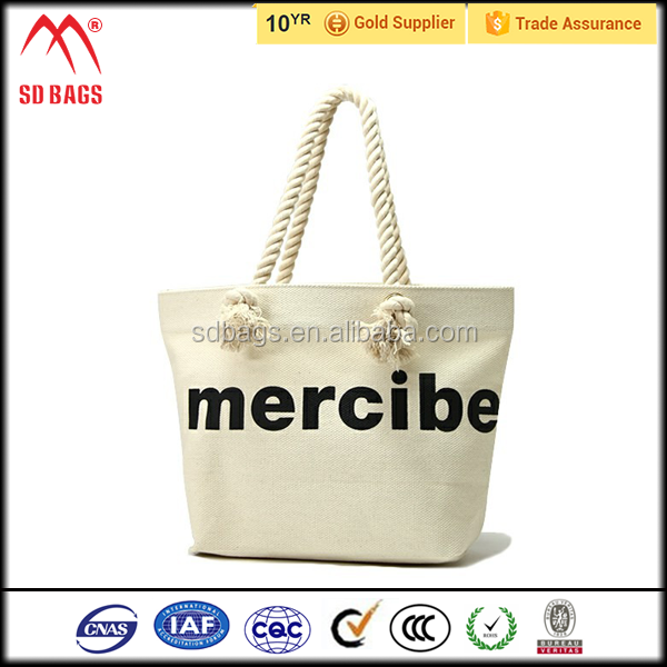 2015 hot style wholesale standard size cotton tote bag