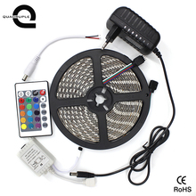 2835 12v waterproof led strip <strong>rgb</strong> with remote controller and adapter