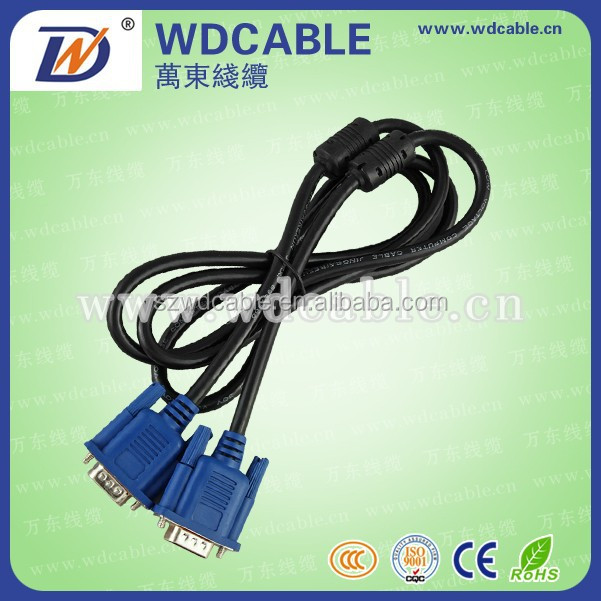 High Quality 15pin Male to Male VGA to VGA Cable