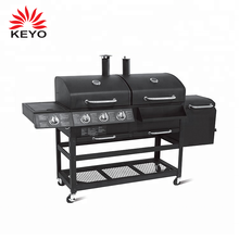 Gas Charcoal Combo Combination Hybrid grill stainless steel outdoor bbq gas grill