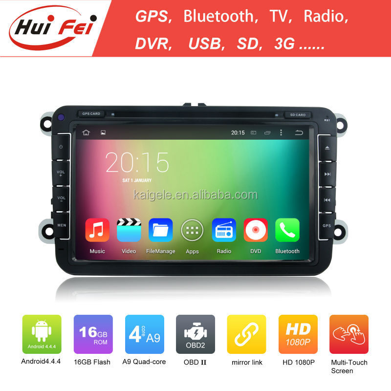 Huifei Android Quad-core Multimedia Car DVD Player motorcycle accessory engine parts manufacturer for Seat Toledo/Leon/Alhambra