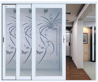 PVC three panels sliding door, PVC Interior Door, PVC closet door