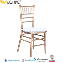 Low price used wood tiffany chair, gold/siver/white chiavari chair for wedding, event.