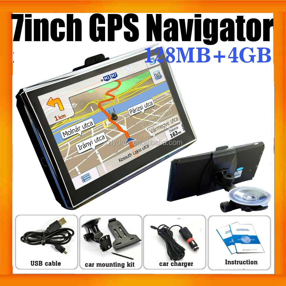 "7"" Car GPS Satellite Navigation System FM MP3 MP4 Ebook reader 4GB Newest free Maps"