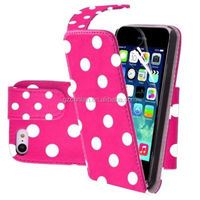 Wholesale For iPhone 6 Fashion Polka Dot Pattern Vertical Flip Leather Design Case