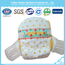 Soft clothlike Ultra-thin disposable baby diapers with elastic waistband