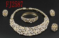 sales well Costume jewelry set/2015 Gold plated jewelry set(FJ2586)trending/high quality/recommended/hot-sale/in stock