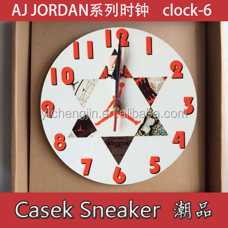 Exporting novel jordan sneaker clock to USA for wholesale