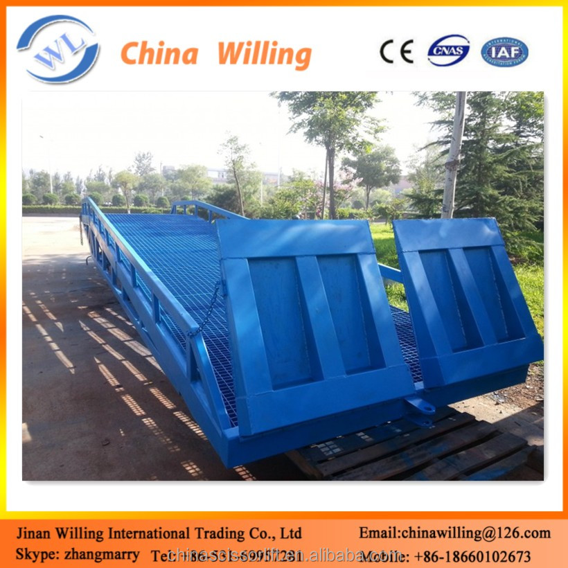 Mobile Manual Loading Dock Ramp with Hydraulic Lifter Legs