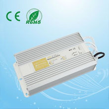 Good sales 250w 12v 15v 24v 48v waterproof electronic led driver with CE ,ROHS, 2years warranty