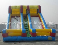 Outdoor activity inflatable double lane slip slide for sale Z3003