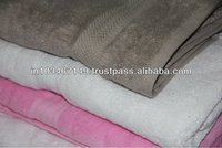100% Organic Cotton Towels with Border design/private label