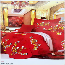 Attractive price new type king size 3d printed bed sheets bedding set