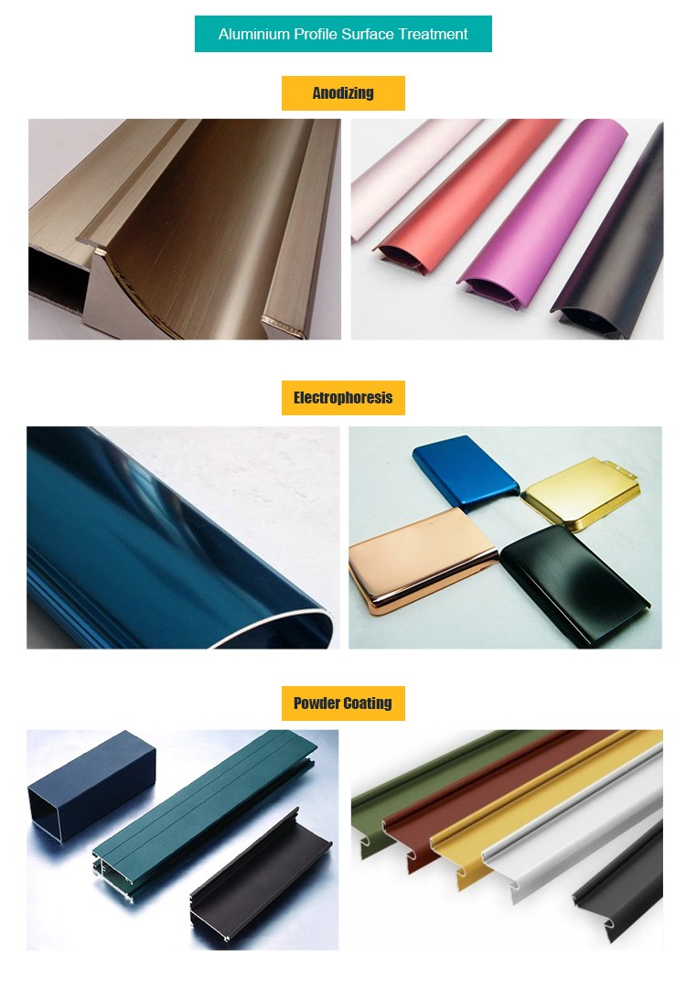 Custom Colorful Oxidation Process Aluminum Extrusion Profile