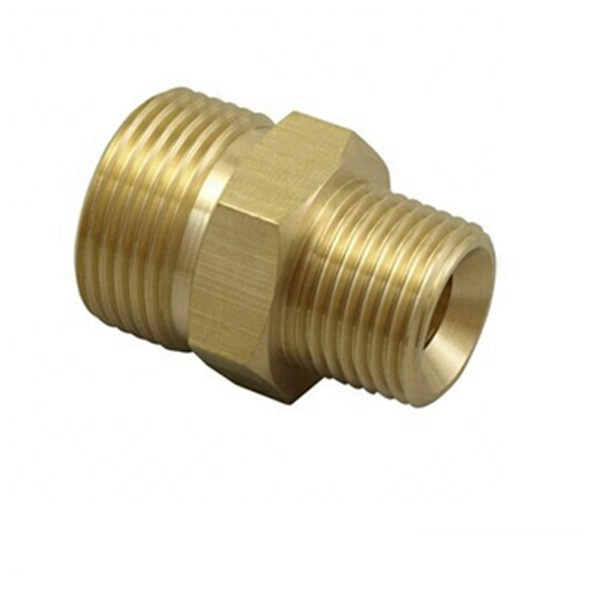 high pressure washer accessory brass <strong>connector</strong> brass adapter 3/8in Male Pipe thread and M22 Male Metric