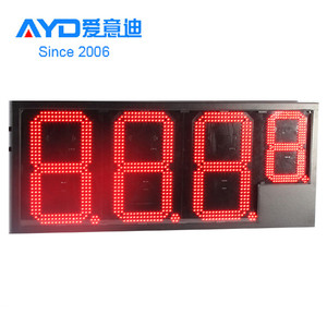 Remote Control 16inch Outdoor 7 Segment LED Display, LED Gas Price Changers Sign