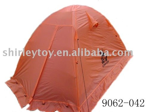 twin double ply tent with lacing