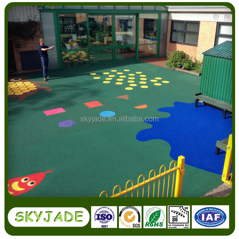 Children playgrounds surface colorful EPDM rubber granules