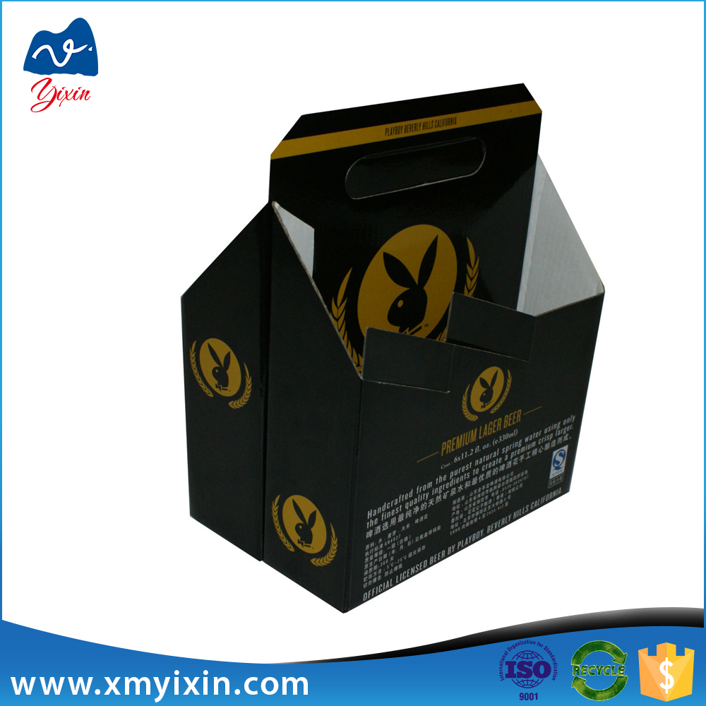 Packaging of 6 bottle wine cardboard bottle carrier