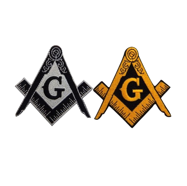 Customized 100% patches Embroidery Textile Badges With Masonic Logo