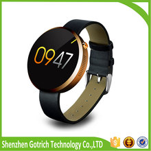 2016 waterproof leather strap ips screen fitness tracker for ios android smartphone cheap bluetooth smart watch phone