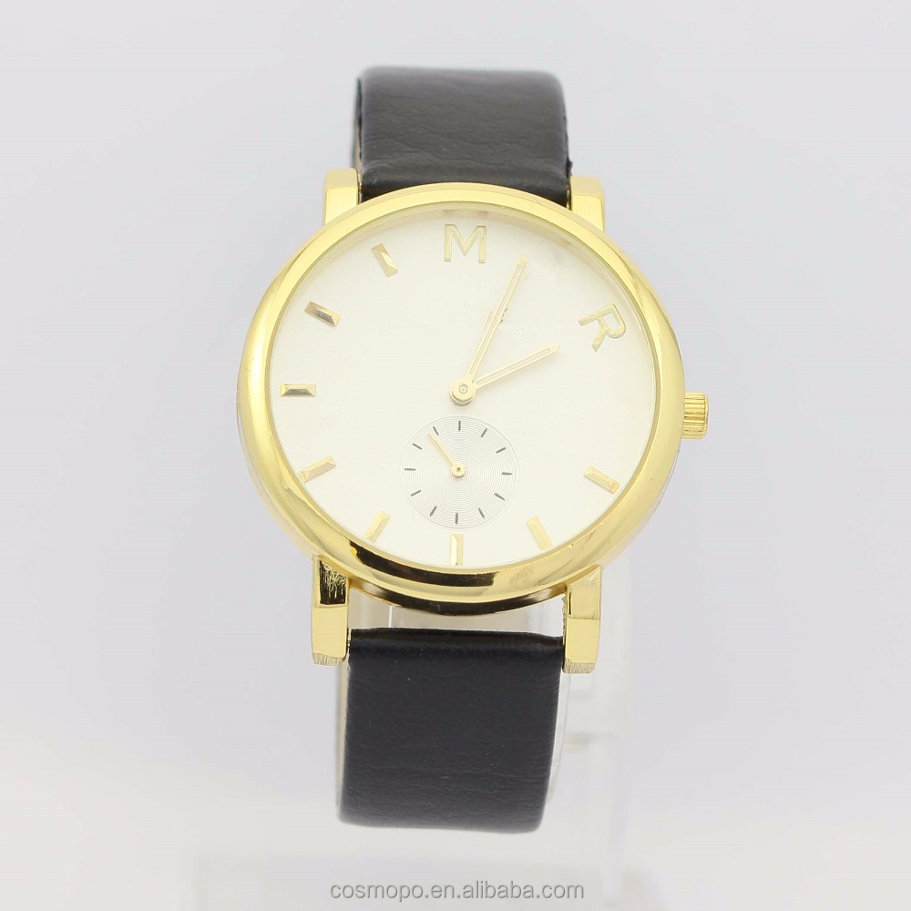 2016 New fashion women pu leather lady watch, women watch