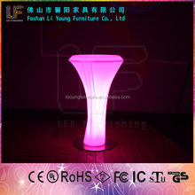 Hot Sales Beautiful And Fashionable Commercial Furniture ,16 Color Changing Remote Control LED Glow Furniture Bar Light Table
