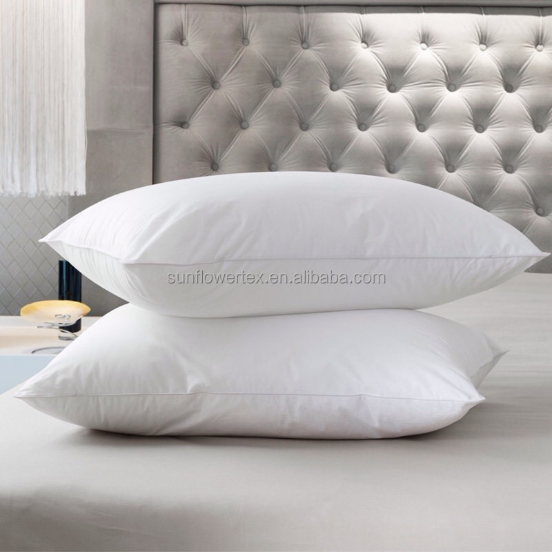 Soft 75 white duck or goose down pillow for hotel buy for Best soft down pillow