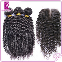 hair pieces kinky afro curly,brazilian human hair with closure