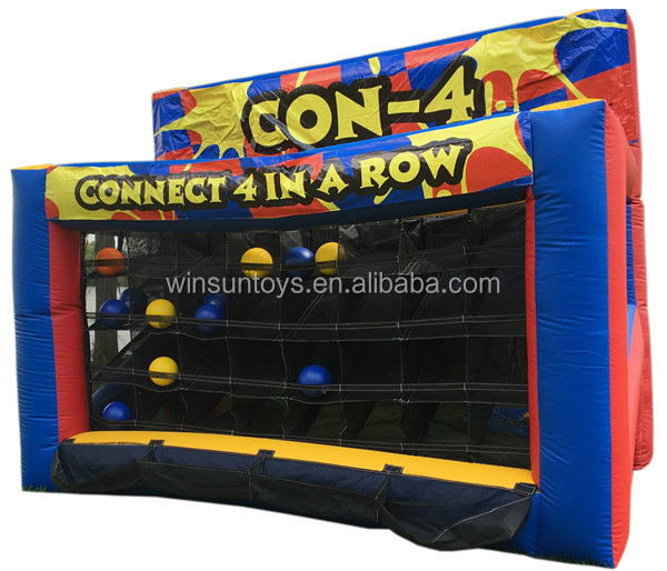 Hot sale connect 4 inflatable carnival games for party rentals/inflatable adult games