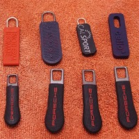 Customized Rubber Logo New Silicone PVC Zipper Puller Design/bag zipper puller/plastic zipper puller