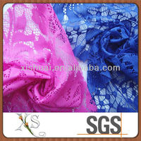100% Polyester No-elastic Lace Fabric