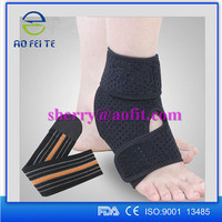 Elastic Adjustable Neoprene Ankle Brace Support with Straps for Pain Relief