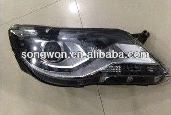 VW tiguan Car Head Lamp head light with LED