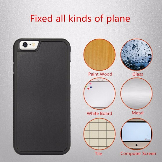 2016 Washable Magical Nano Sticky Selfie Cell Phone Shell Anti Gravity Case For iPhone 6 6s Plus