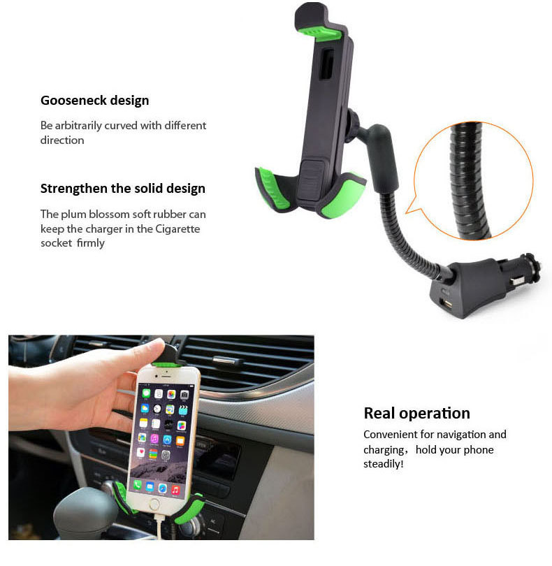 2015 New Mount One USB Car Charger Holder For Samsung galaxy s4 HC05K