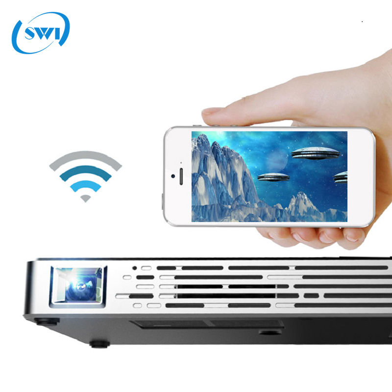 Hight lumens mini projector mobile phone multimedia projector with dlp led lamp