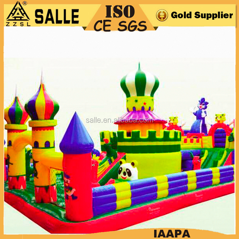 High quality kids game amusement park inflatable castle jumping inflatable castle for children
