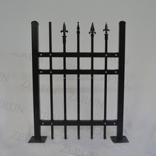 Anping Palisade angle bar fence/ steel picket bar fence professional factory supply drawing