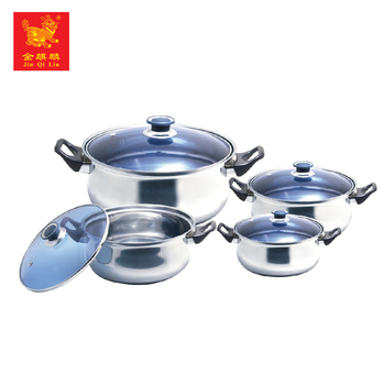 very cheap kitchen stainless steel hot pot casserole set with eco friendly material