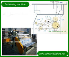New Roller type leather embossing and ironing machine
