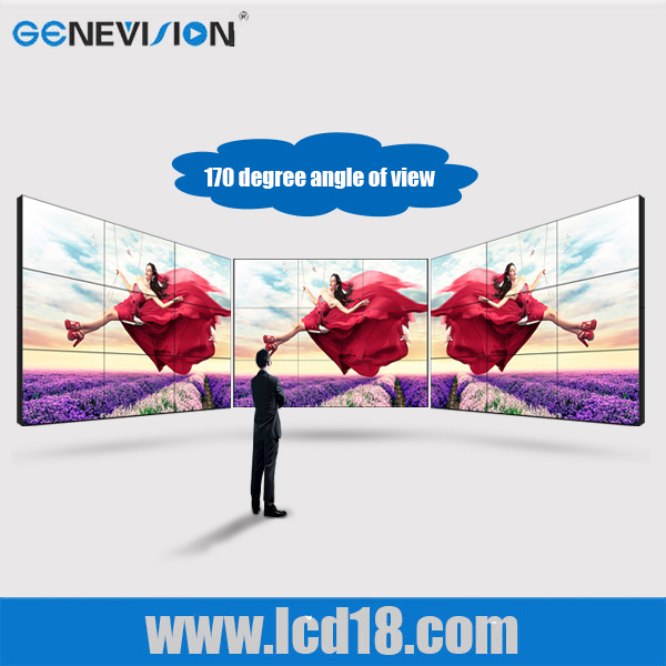 super thin bezel /seamless 3x3 55 inch DID LCD video wall with 4x4 HDMI matrix switcher video wall media TV for shopping mall