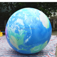 large inflatable earth shape inflatable globe helium balloon high quality P3024A