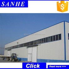 Prefabricated steel structure warehouse / construction design steel structure / steel frame warehosue